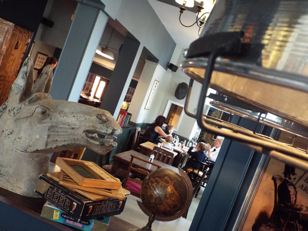 The interior of The Village Inn pub, Pitshanger Lane, Ealing