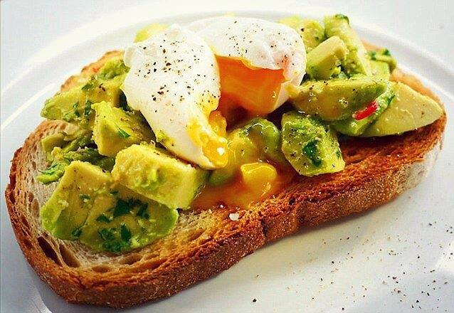 Avocado and poached egg of toast from Farm W5 cafe and shop, Ealing Broadway