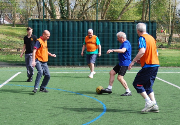 Walking football with Will To Win, Ealing