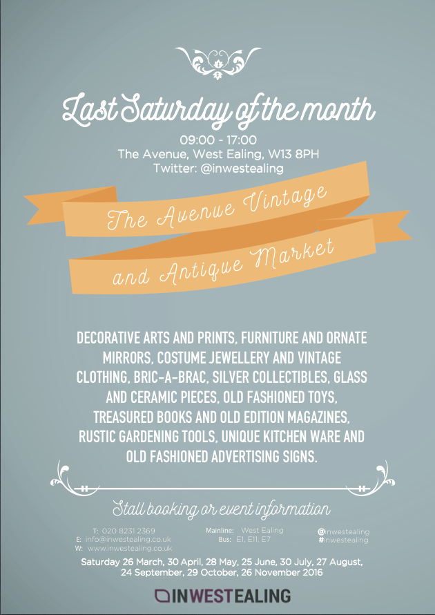 The Avenue Vintage and Antiques Market - the last Saturday of every month, West Ealing