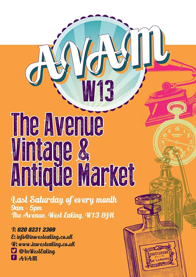 The Avenue Vintage and Antique Market - the last Saturday of every month, West Ealing