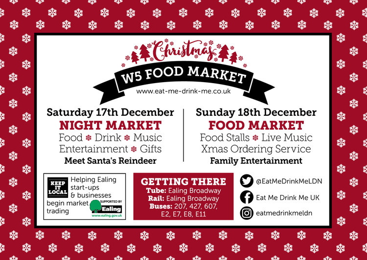 W5 Food Market - Christmas Night market, 17th December