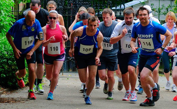 Ealing Mile runners