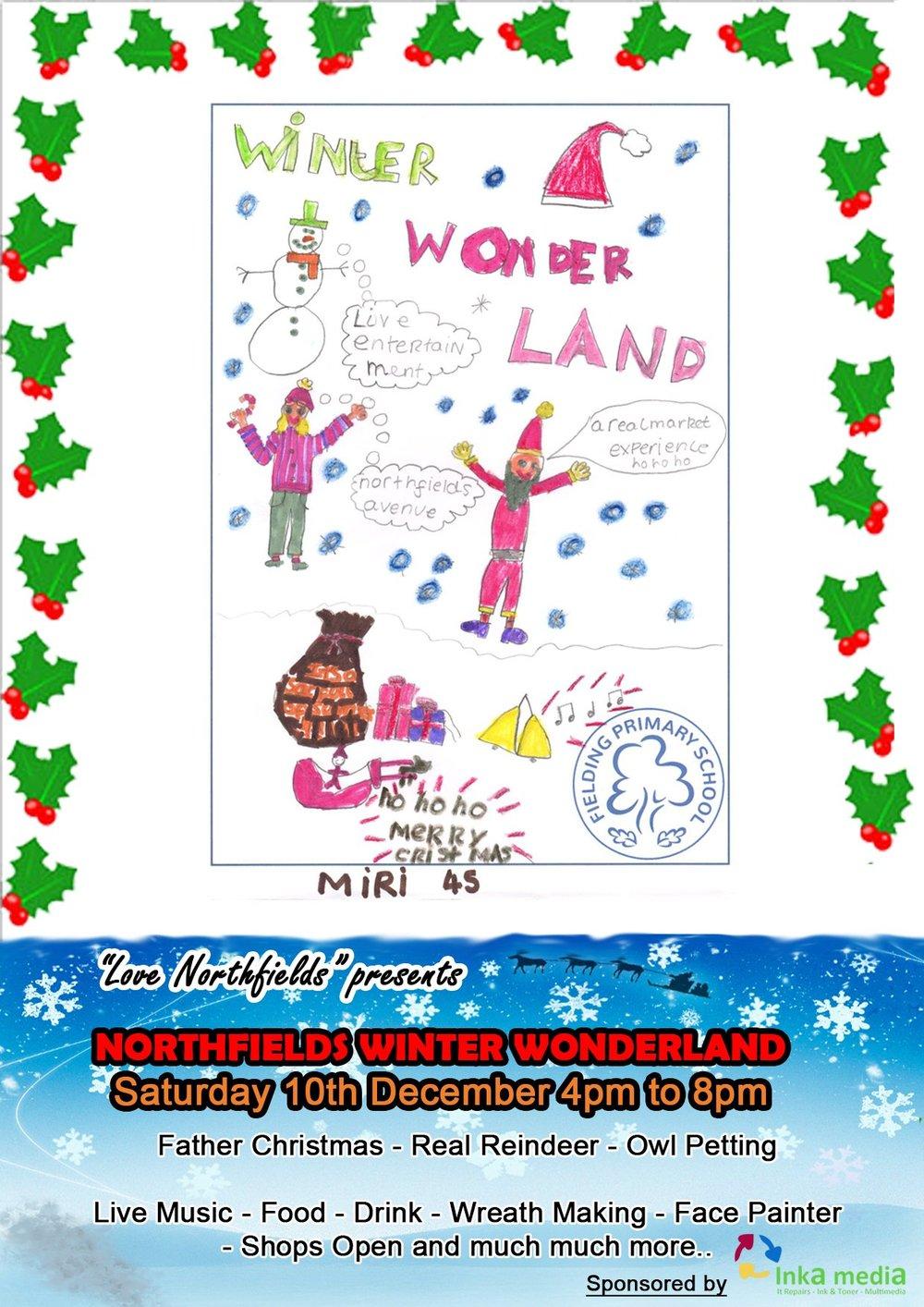 """""""Love Northefields"""" presents Northfields Winter Wonderland. Saturday 10th December 4pm to 8pm"""