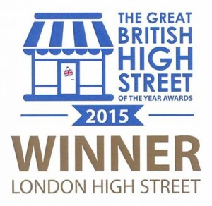 The Great British High Street of the year awards 2015. Winner London high street