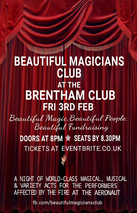 Beautiful Magicians Club, The Brentham Club, Ealing