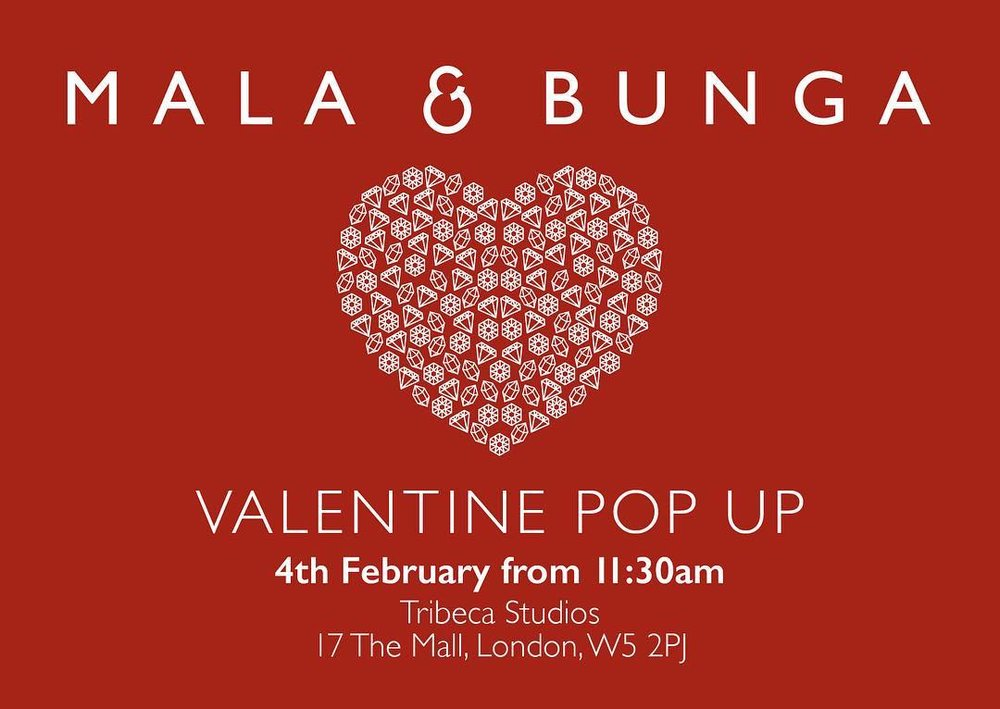 Mala & Bunga Valentine pop up, Ealing