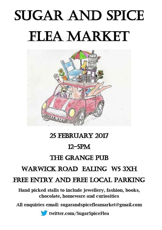 Sugar and Spice Flea Market, The Grange pub, Ealing Common