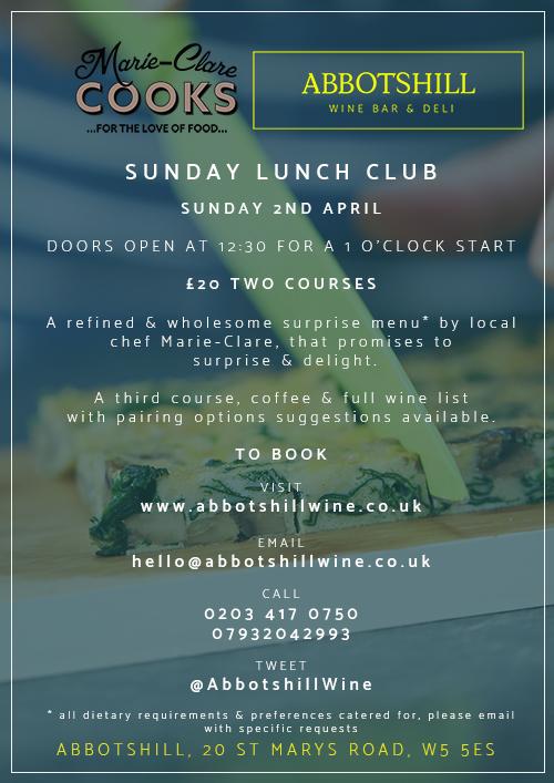 Sunday Lunch Club, Abotshill, Ealing