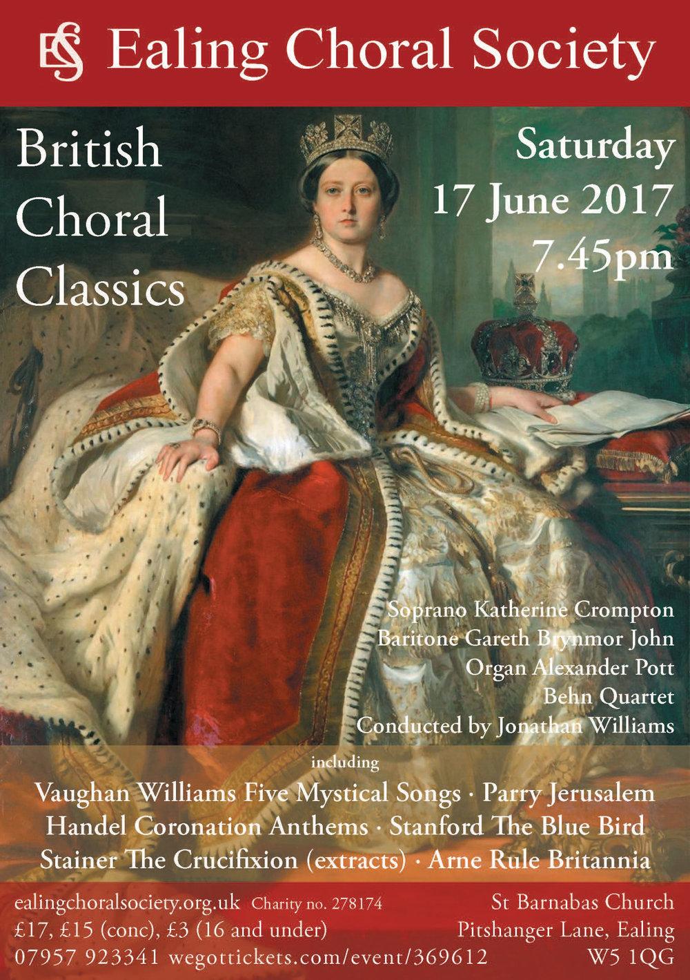 Ealing Choral Society British Choral Classics