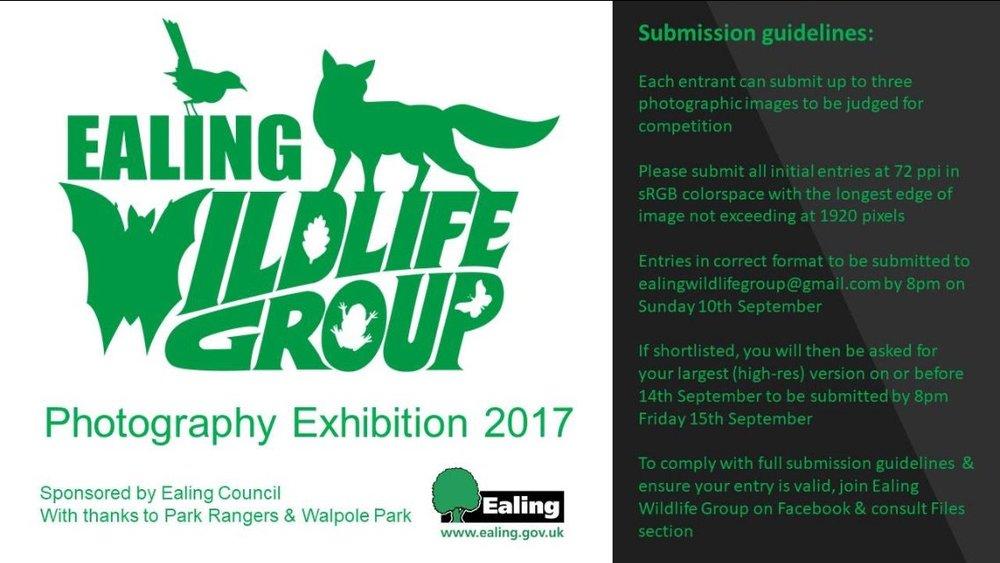 Ealing Wildlife Group Photography Exhibition
