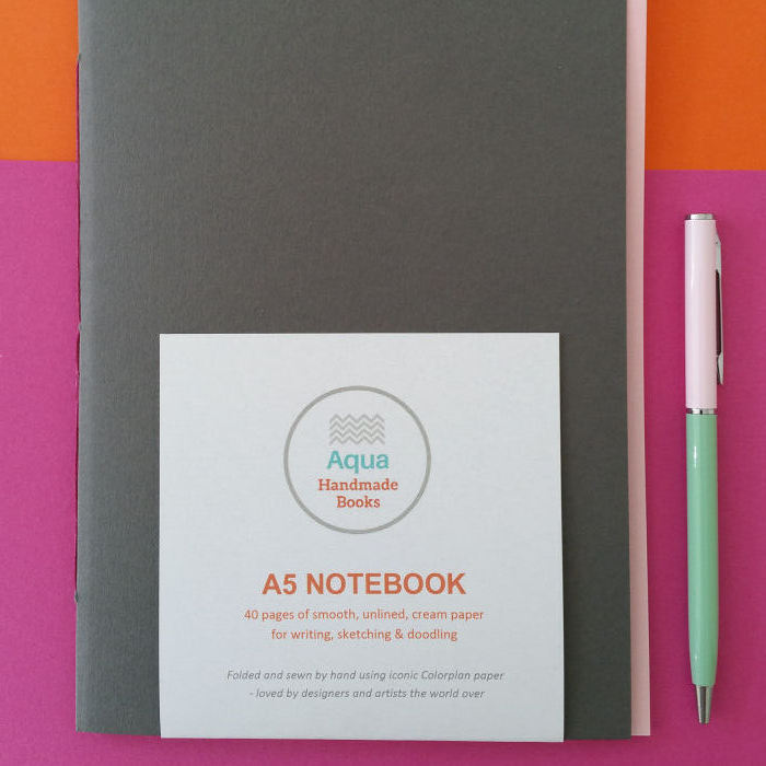 SQUARE DARK GREY CANDY PINK A5 COLORPLAN NOTEBOOK.jpg