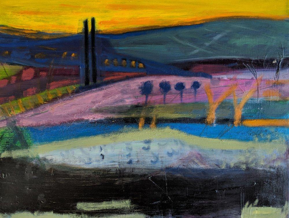 Spanish Dusk. Oil on Canvas. 36 x 50cms £700.jpg