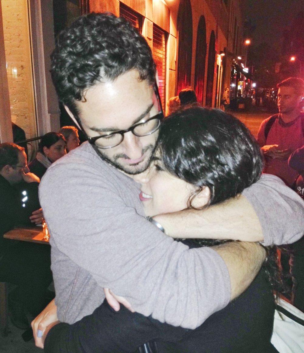 Alexandra & Jeff, Westville hug