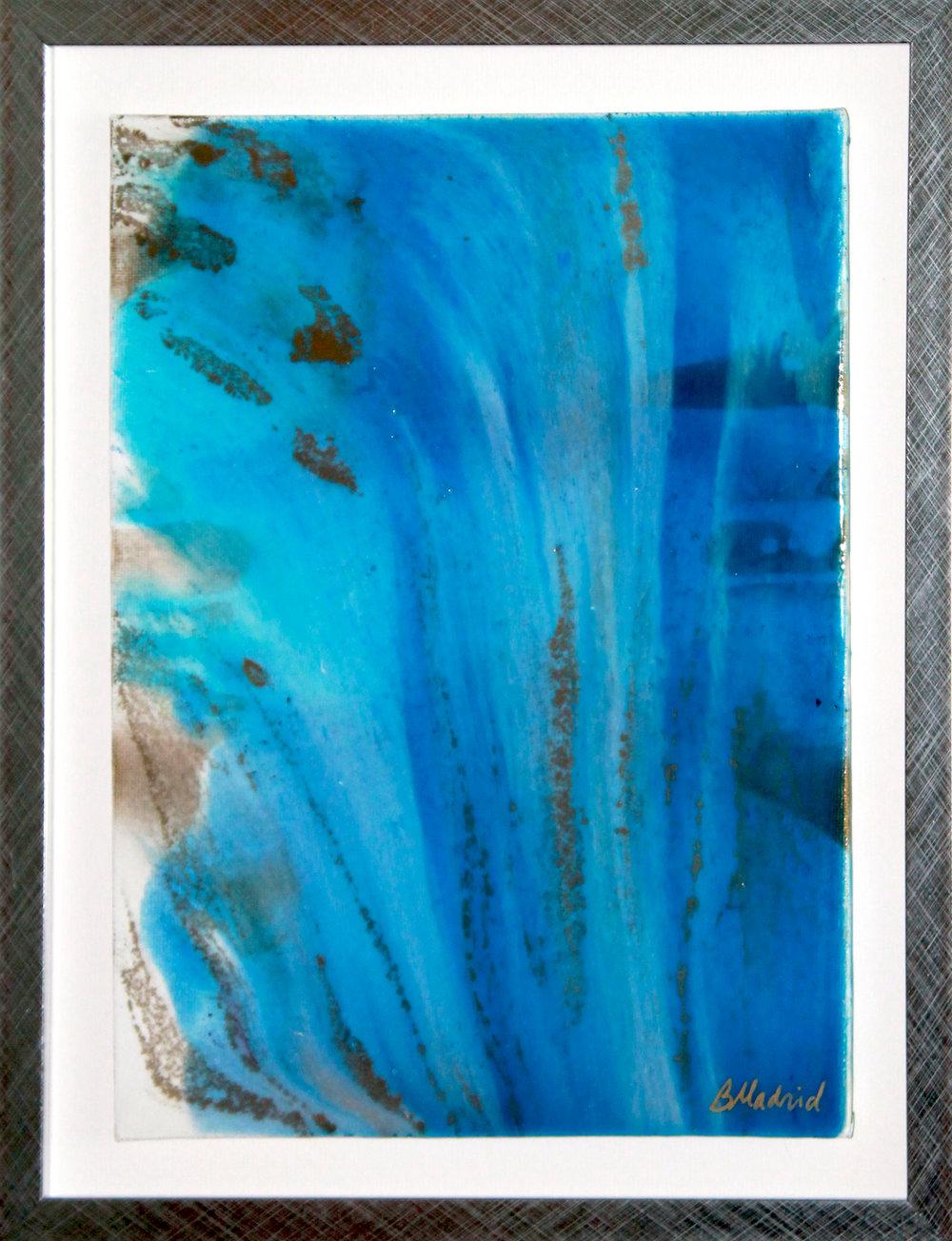 "Final Wave | 14.5"" x 12"" framed canvas"