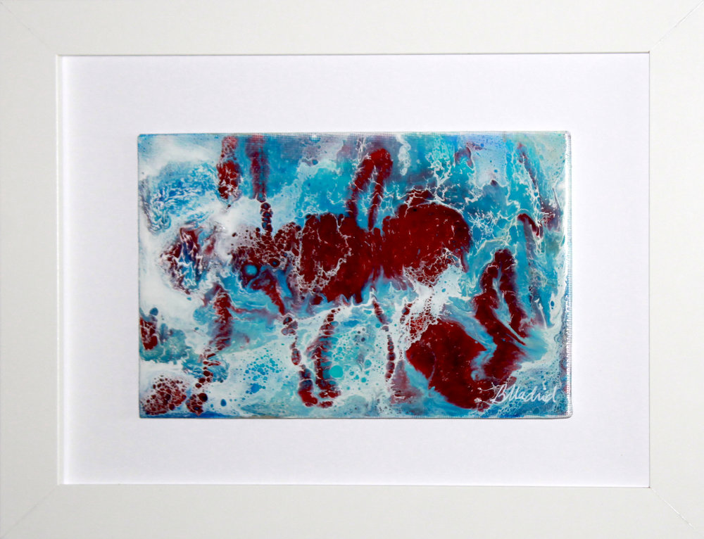 "Moisture Surge | 11.5"" x 9.5"" framed canvas"