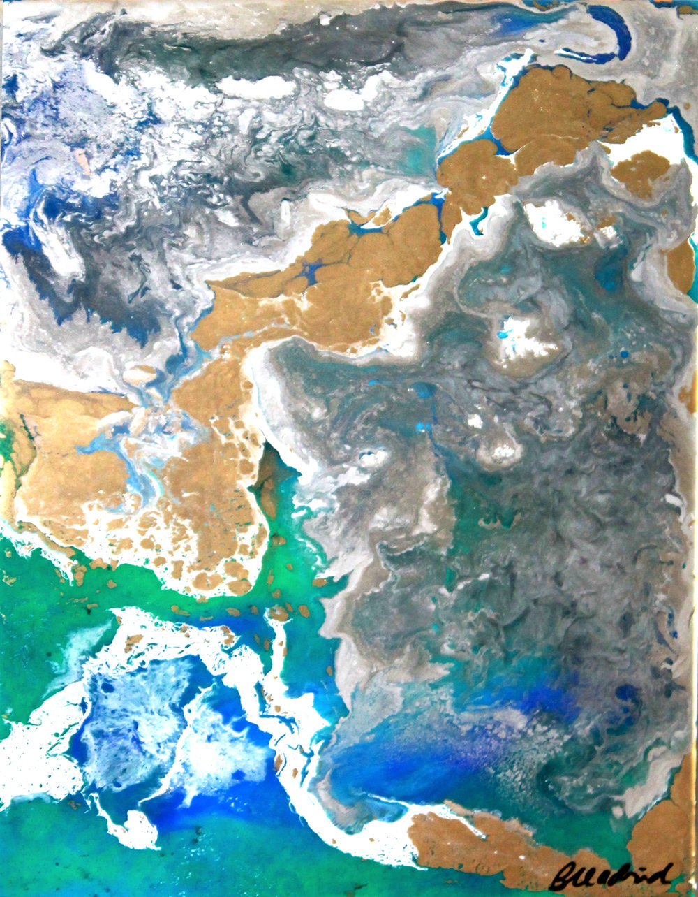 View from Space | painting 2 of 4