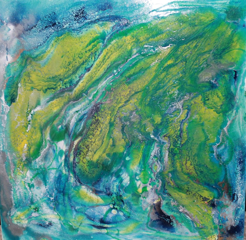 "Cajun Delight | 40"" x 40"" on soft canvas"