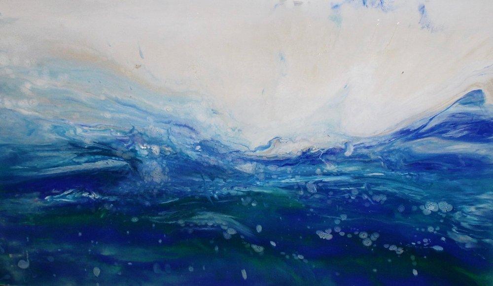 "Celestine | 48"" x 30"" on soft canvas"