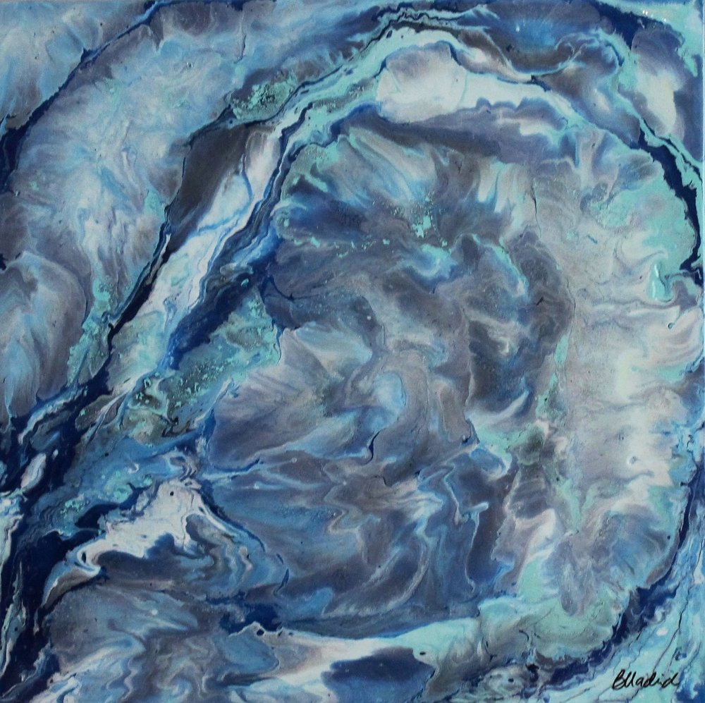 "Frozen Tundra | 18"" x 18"" on wooden canvas"