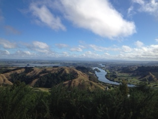 View overlooking the Waikato River