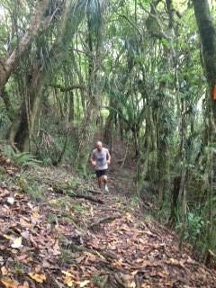 Graham on single trail.
