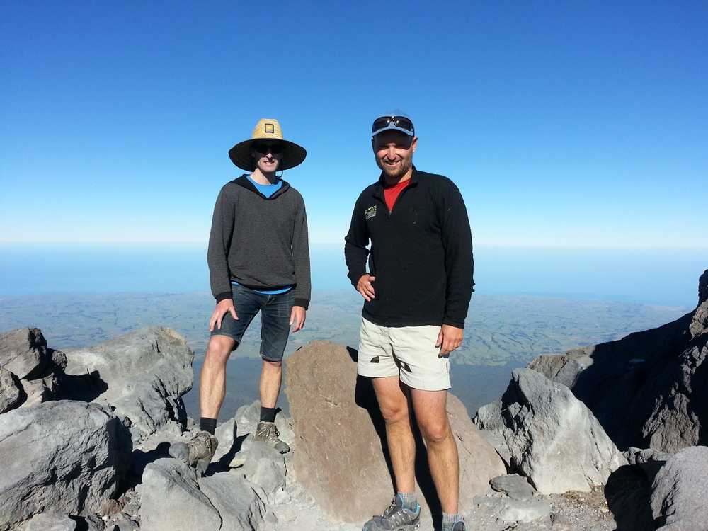 360 degrees view with my mate Ben, after 2 hours of ascending to the peak