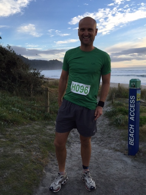 Waihi Beach, NZ on a gorgeous morning and keen as to get into it.