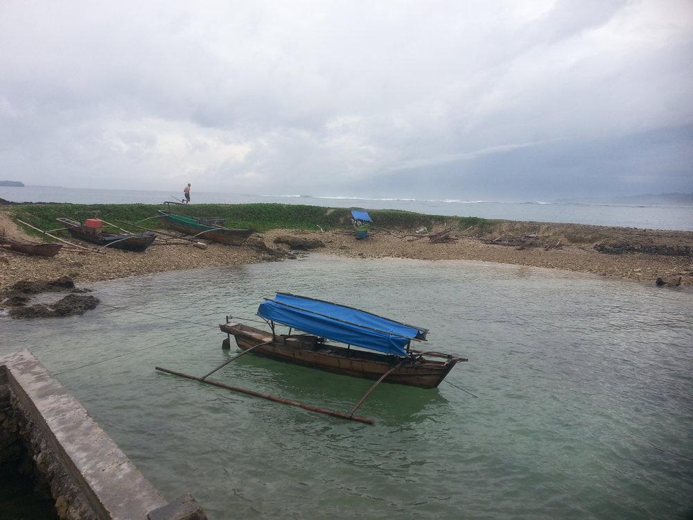 dawn jog on Simuele Island coastline