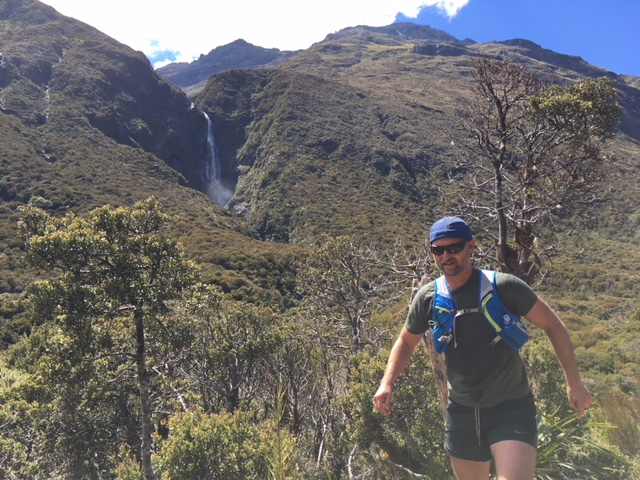ascending Mingha valley in amazing NZ trail running scenery.