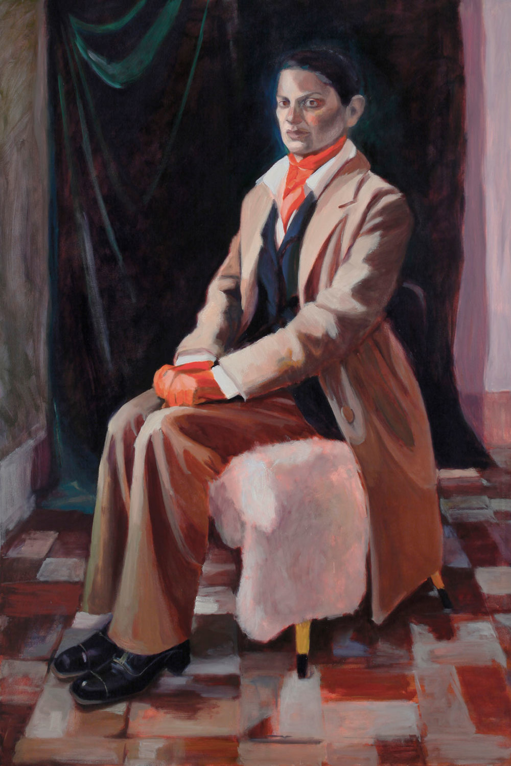 The Orange Gloves 2009 Oil on canvas 60X48""