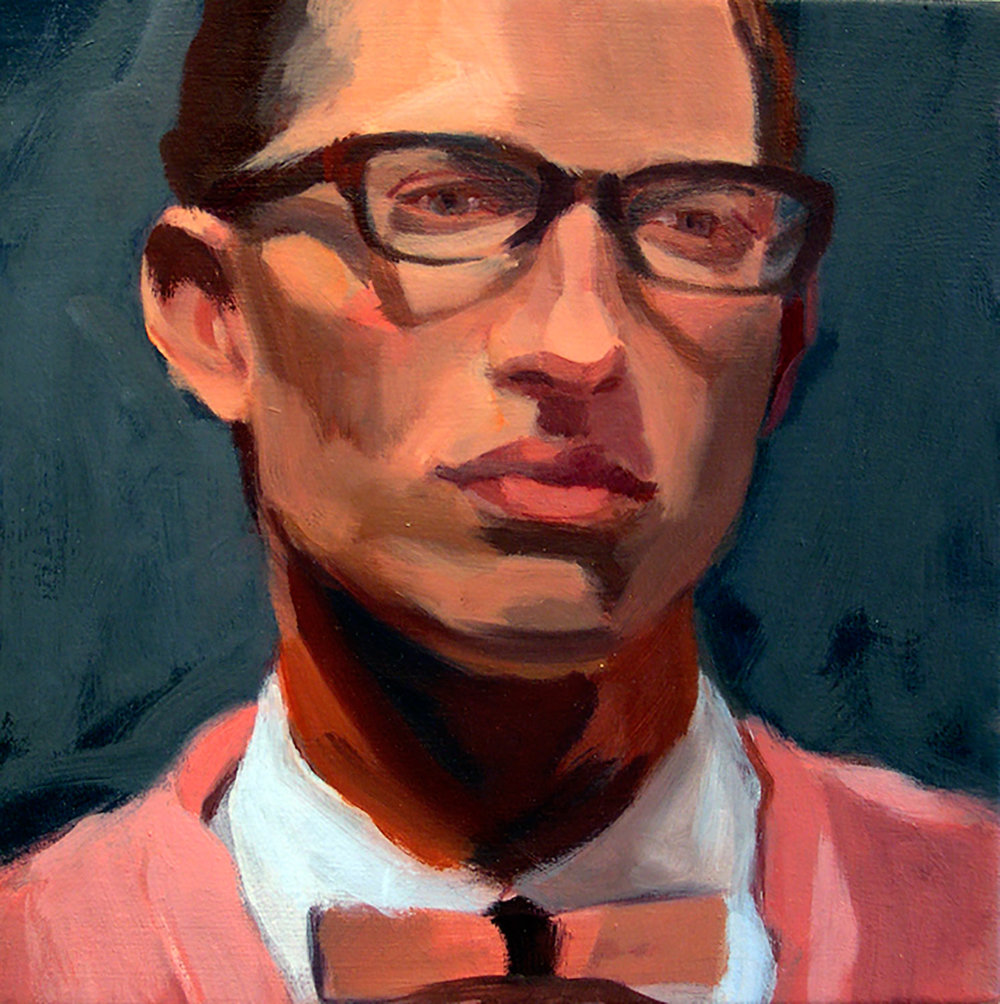 Boy l, 2008 Oil on canvas, 12x12""