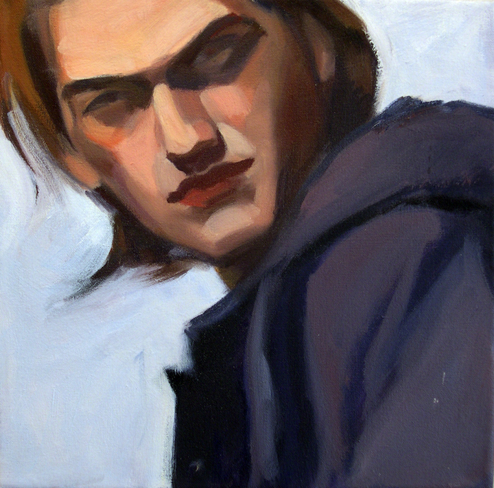 Boy ll, 2008 Oil on canvas, 12x12""