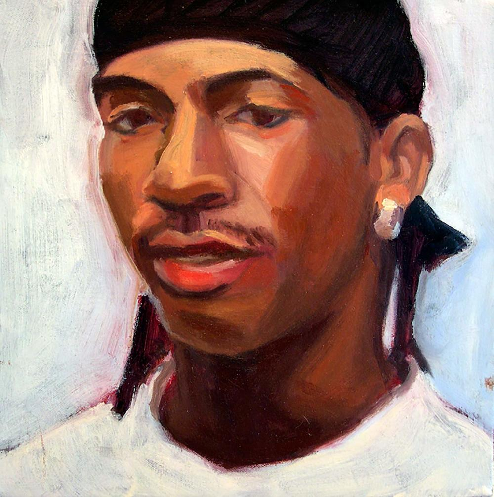 Boy V, 2008 Oil on canvas, 12x12""