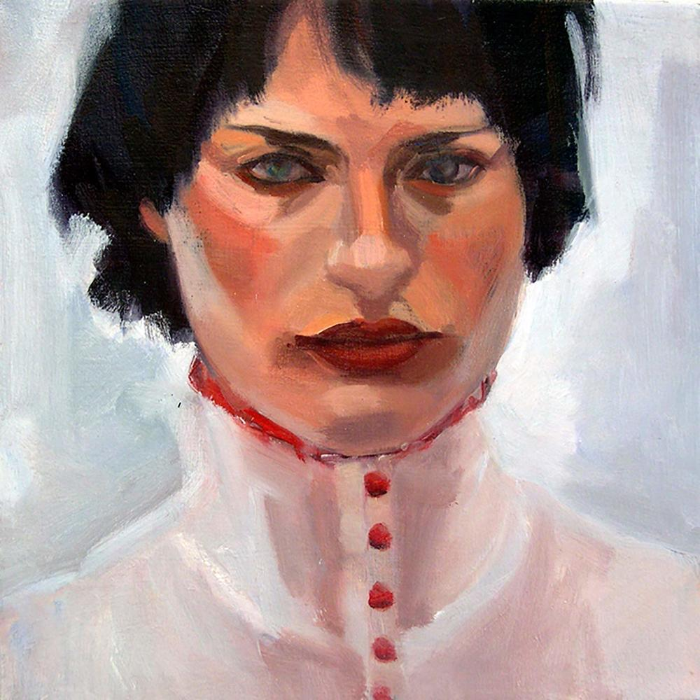 Girl l, 2008 Oil on canvas, 12x12""