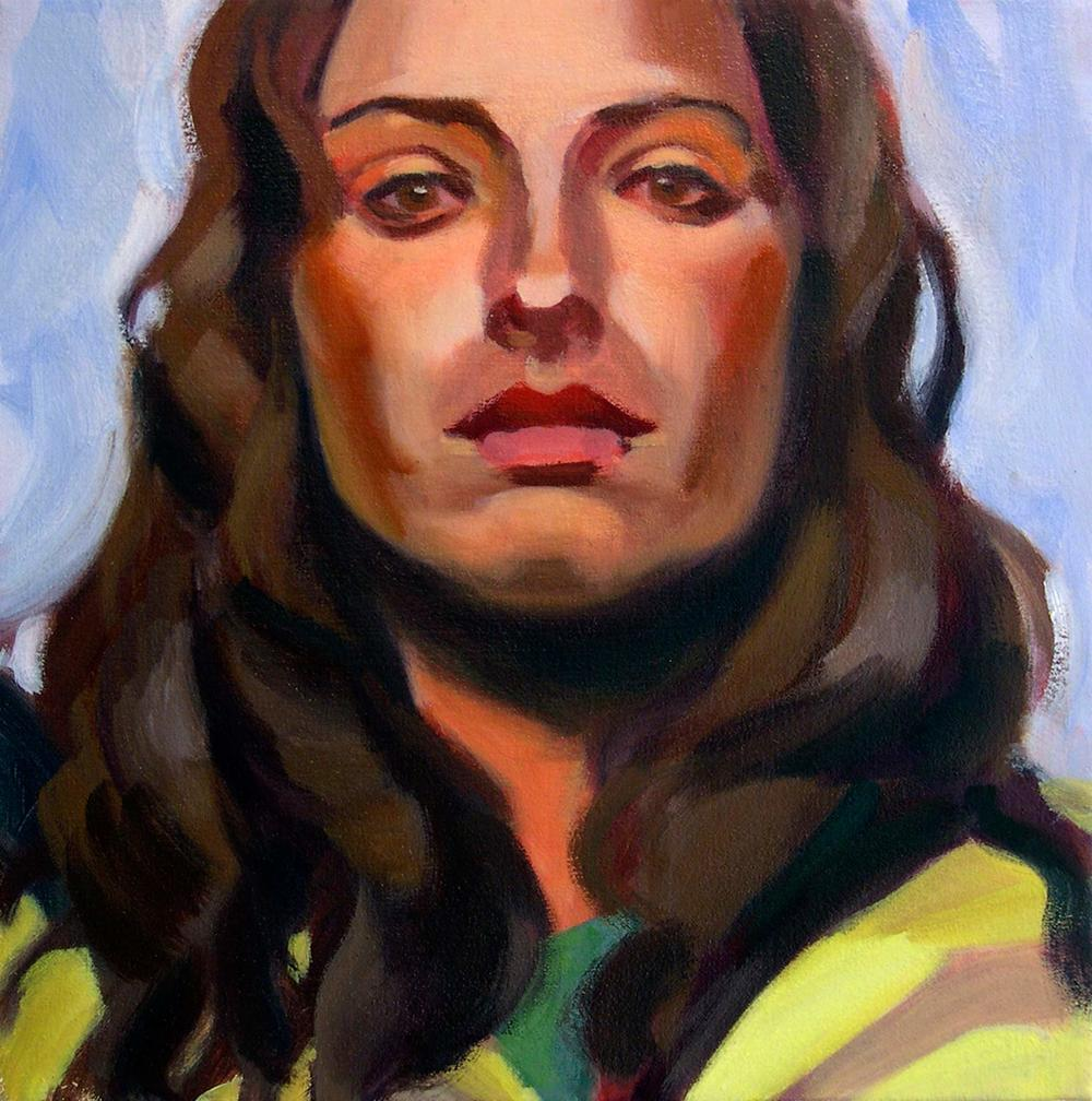 Girl V, 2008 Oil on canvas, 12x12""