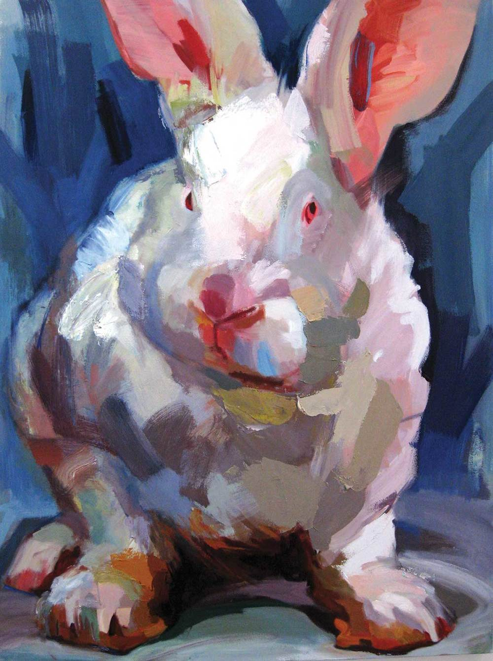Jo Hay Pinky, 2014 Oil on canvas 36x48""