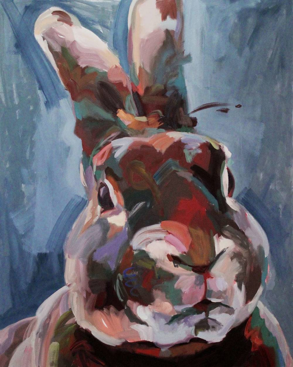 "Ziggy,2016 Oil on canvas 60x48"""