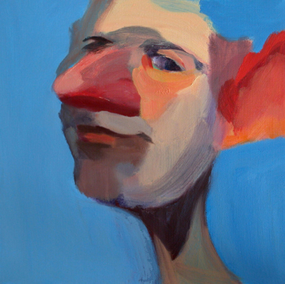 US 14, 2008 Oil on canvas 10x10""