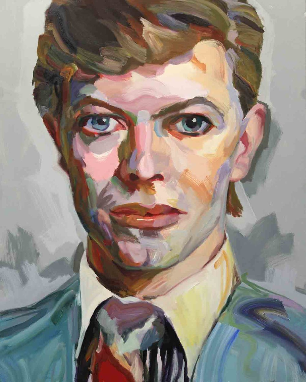 Bowie, 2018 Oil on canvas 48x60""