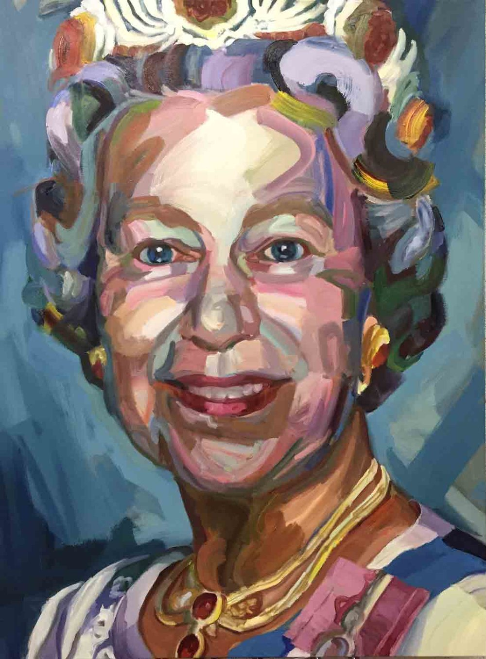 The Queen, 2018 Oil on canvas 36x48""