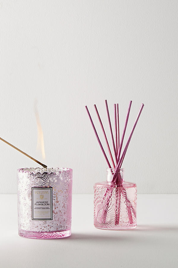 Voluspa Scalloped Edge Candle & Diffuser Gift Set