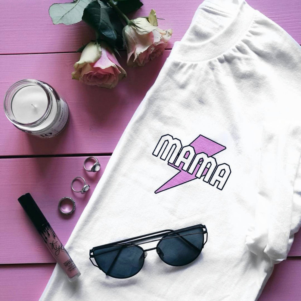 Mama Bolt Tee from  MÈRE SOEUR