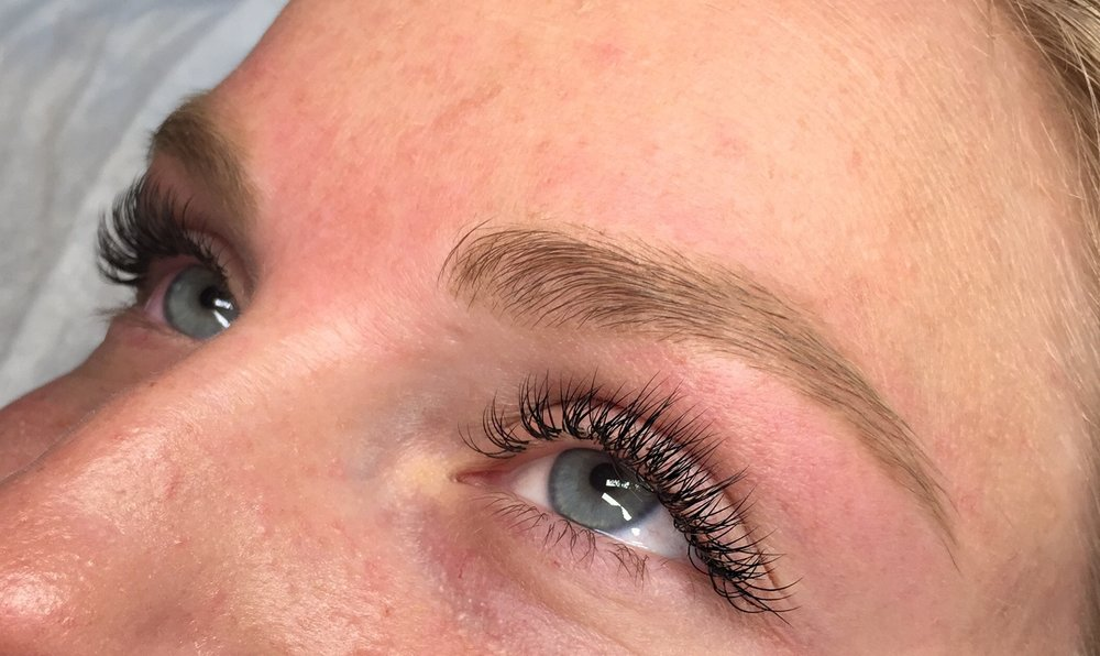 Full Set - B Curl + Brow Design