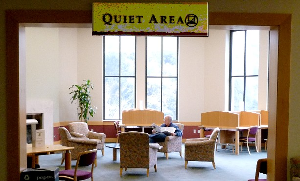 library quiet area