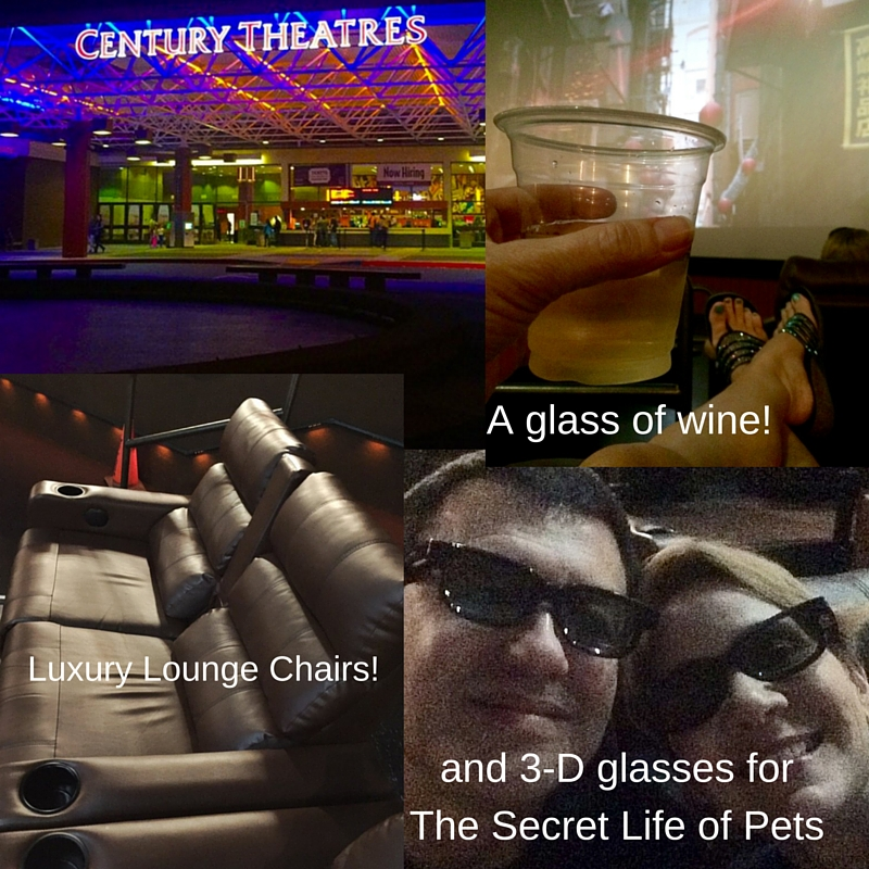 Century Cinema 16 has luxury lounge chairs, way more room for each customer, beer and wine, and assigned seating! It's so much nicer to go to the movies!