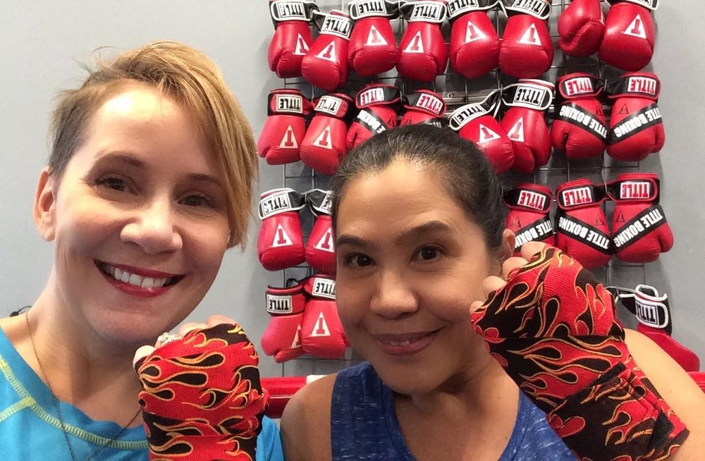 My boxing buddy, Jing, and I just received the coveted flame hand wraps!