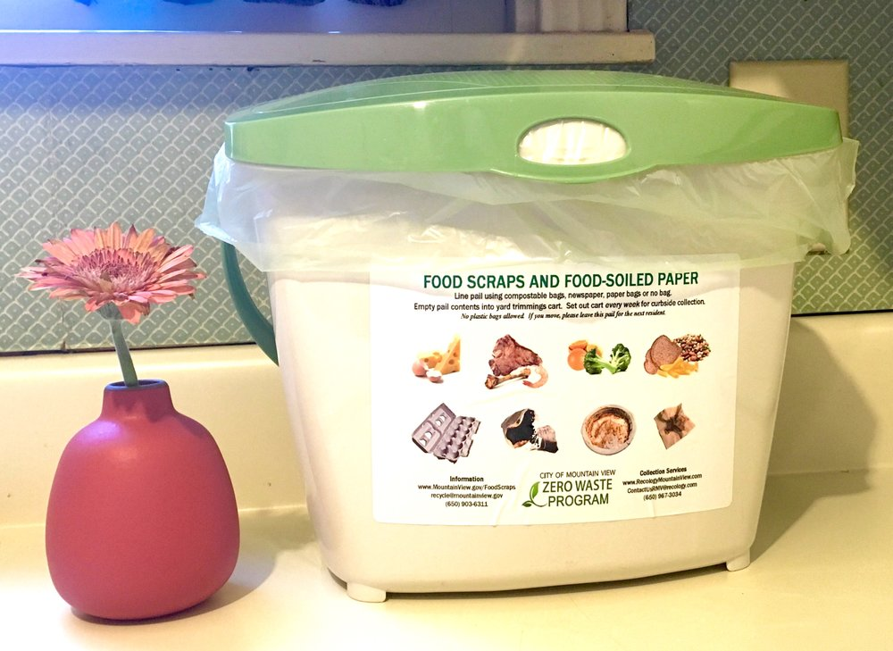 I love this little kitchen compost pail!