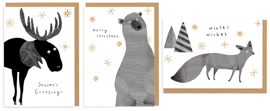 ohh deer have pulled out all the stops with their christmas cards this year with ranges including die cut pop out and concertina cards - Where To Buy Christmas Cards
