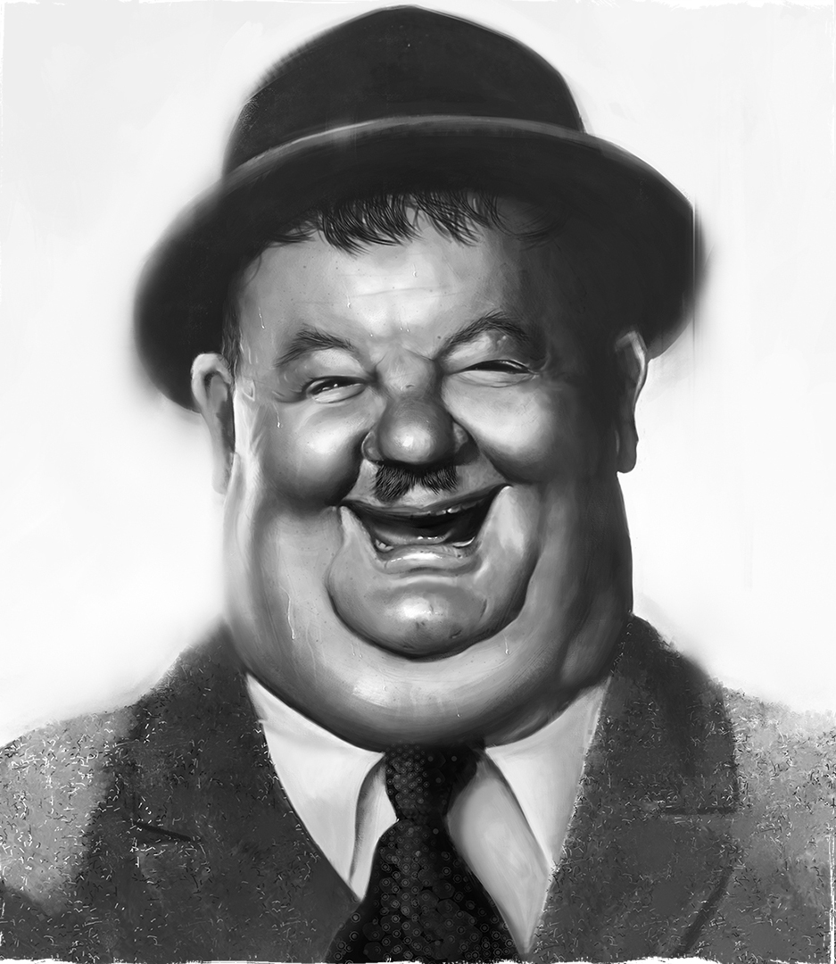 Oliver Hardy Caricature Process